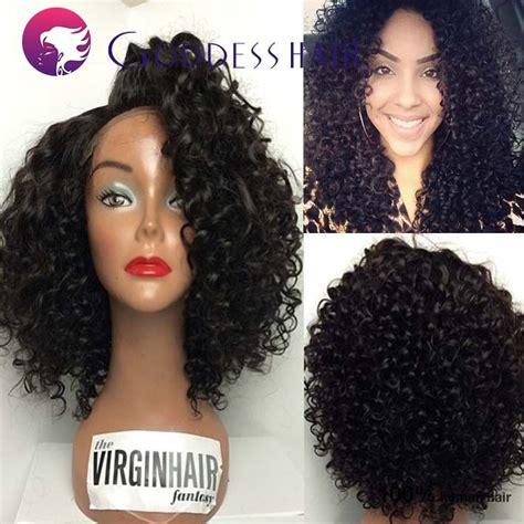 deep wave loose blonde curls with bangs new 100 human hair short bob u part wigs 12inch brazilian