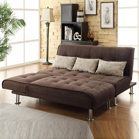 How Big Are Futons by Brown Microfiber 2 Pc Sectional Sofa Futon Chaise