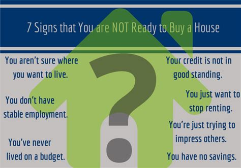 to buy a house or not 7 signs that you are not ready to buy a house