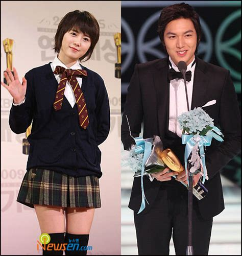 film lee min ho dan koo hye sun goo hye sun and lee min ho at 2009 kbs drama awards girl