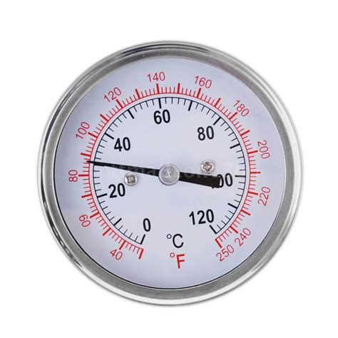 Termometer Analog dual scale analog stainless steel oven grill thermometer temp gage ebay