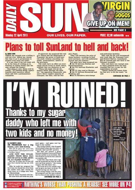 africa news news and headlines from south africa egypt south african daily sun newspaper today