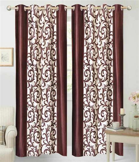 beige window curtains sajaawat beige brown polyester window curtains set of 2