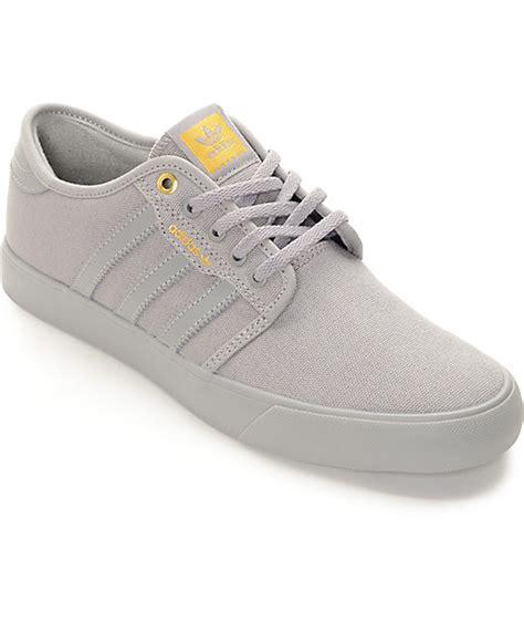 adidas seeley mono grey canvas shoes at zumiez pdp