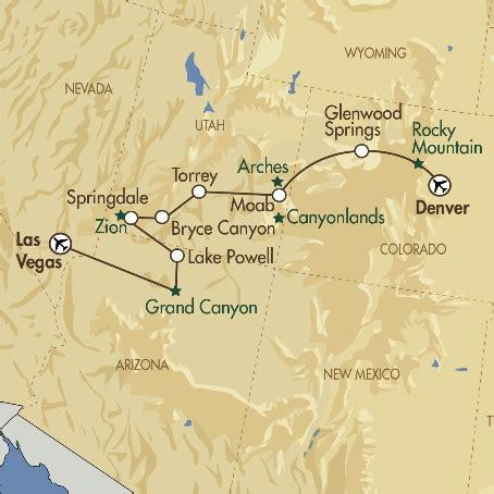 map las vegas denver denver the canyonlands las vegas complete america