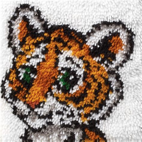 Wonderart Latch Hook Kit Tiger Cub Latch Hook Rug Kits For