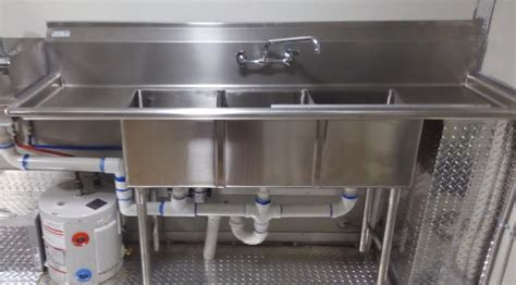 3 compartment sink for food truck food truck sink food