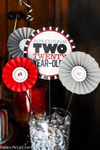Table Decorations For Male Birthday Black Red And Silver 40th Birthday Party For Him