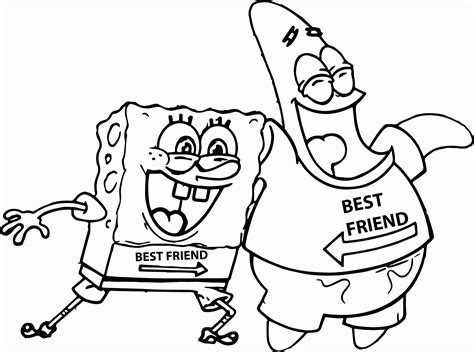 coloring pages spongebob and patrick spongebob and patrick coloring page coloring home