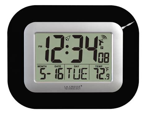digital wall clock amazon amazon com la crosse technology wt 8005u b atomic digital