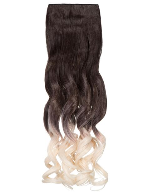 Hair Clip Ombre Curly ombre curly one weft clip in dip dye extension g1007l