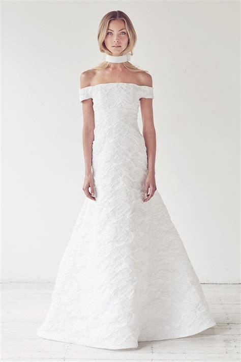 The Shoulder Wedding Dress by Modern And Illuminati Wedding Dress Collection