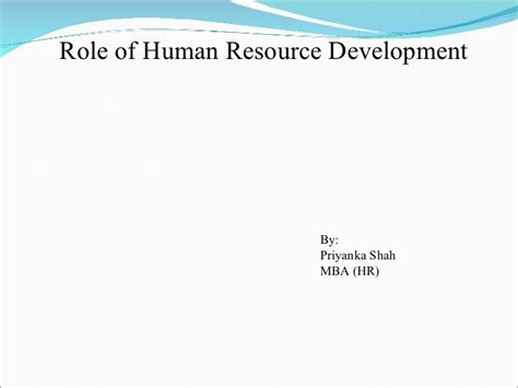 Human Resource Development Notes For Mba by Vikash By Vikash Verma
