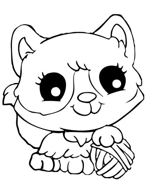 Kitty Cat Coloring Pages Free Printable Page sketch template