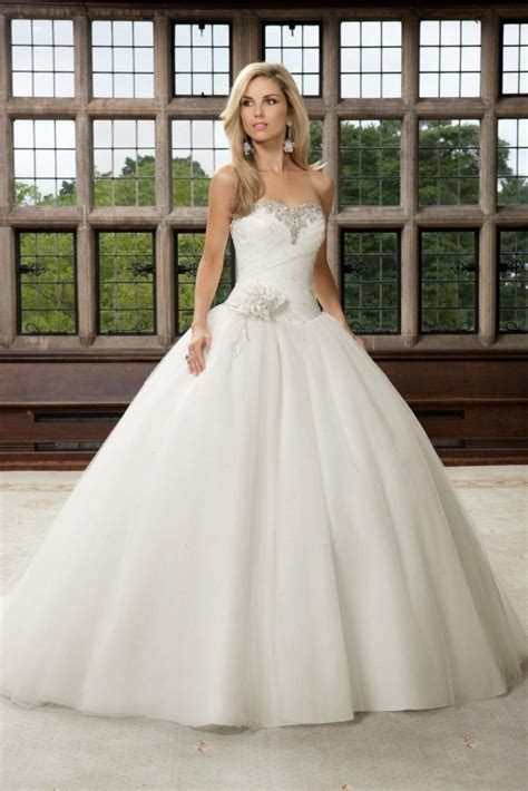 Cinderella Ball Gown Wedding Dress   Wedding and Bridal Inspiration