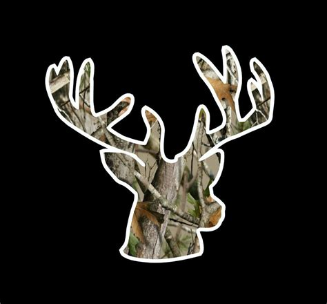 Hunting And Fishing Home Decor by Deer Head Camo Silhouette Hunting Rack Horns Whitetail