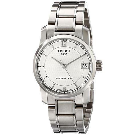 Tissot T0872074403700 Titanium Automatic Silver tissot s 32mm titanium bracelet automatic t0872074403700 ebay