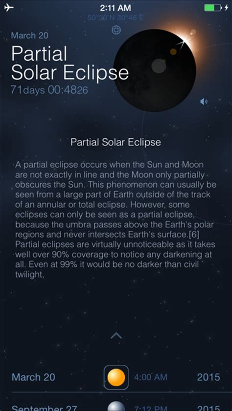 solar and lunar eclipses and partial eclipse