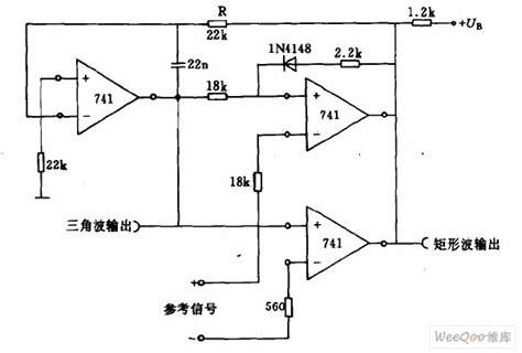triangle wave rectangle wave generator circuit filter