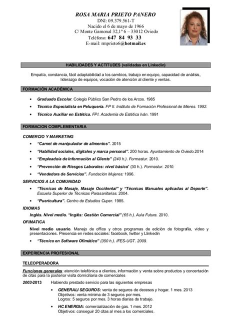 Modelo Curriculum Cronologico Cv Cronologico Definitivo