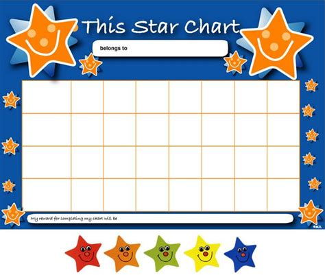 printable star chart for students sticker reward chart template charts for future