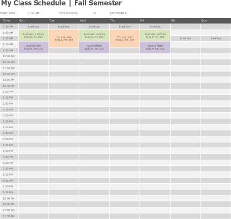 College Class Schedule Template Download Free Premium Templates Forms Sles For Jpeg Class Schedule Template Docs