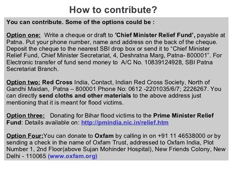 Fundraising Letter For Flood Victims Kosi Flood In India Bihar A National Calamity
