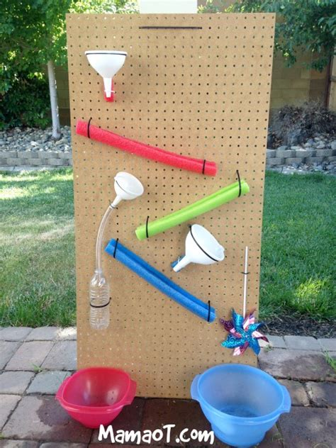 backyard water play how to make a water wall for summer fun