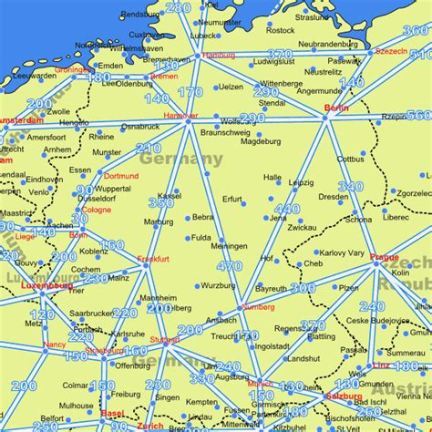 road map of germany germany driving distance road map distances in germany