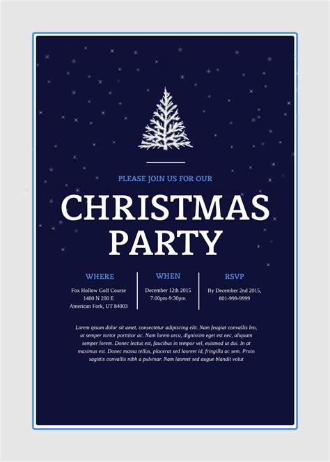 Holiday Party Invitation Templates Word Hatch Urbanskript Co Vintage Christmas Email Invitations M M Invitation Template