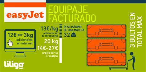 equipaje easyjet precio peso dimensiones liligo