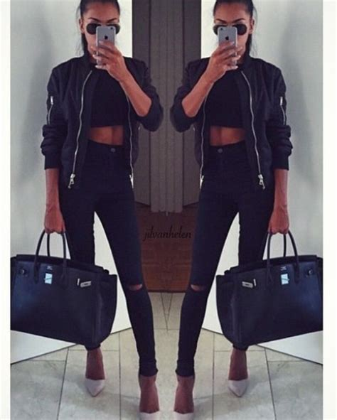 top topshop bomber jacket crop tops ripped knee wheretoget