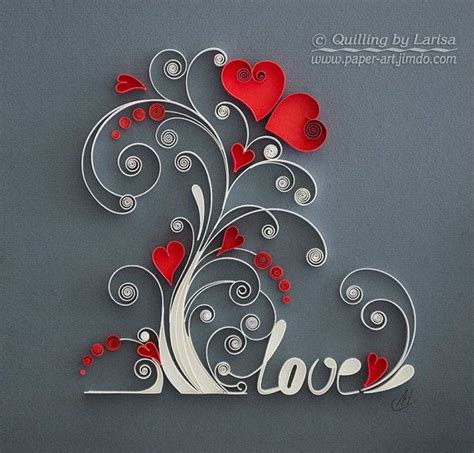 Craft Paper Design - 396 best quilling hearts images on