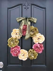 Spring Wreaths For Front Door Spring Peonies Front Door Wreaths Traditional By Twoinspireyou