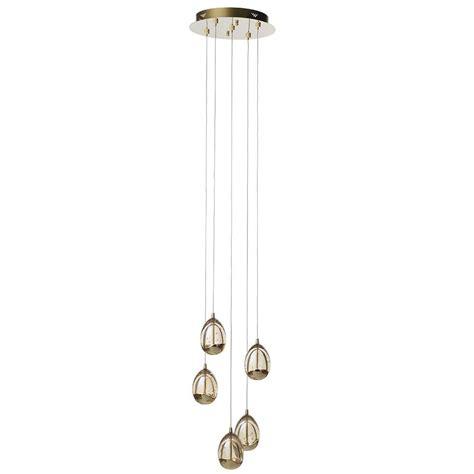 Spiral Pendant Ceiling Light Visconte Bulla 5 Light Led Spiral Cluster Ceiling Pendant Light Gold From Litecraft