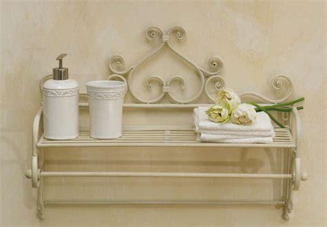 accessori bagno provenzali porta telo ferro battuto bianco mobili etnici provenzali
