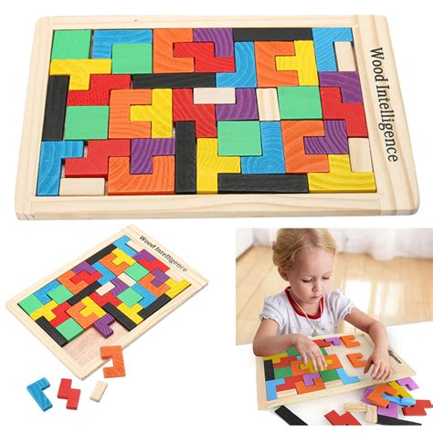 Mainan Puzzle Tangram Tetris mainan puzzle tangram tetris multi color