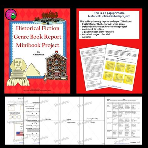 Book Report Ideas Historical Fiction by Mini Book Book Report