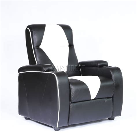 movie recliner chairs foxhunter leather retro theatre cinema movie chair sofa