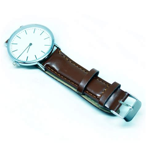 jam tangan analog kulit oem brown jakartanotebook
