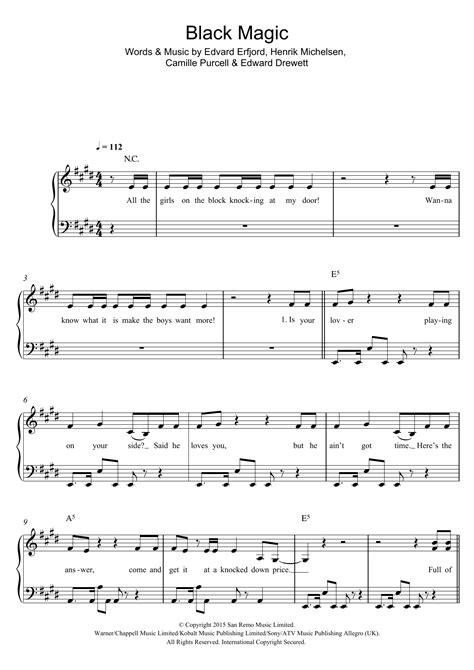 printable lyrics black magic little mix black magic sheet music at stanton s sheet