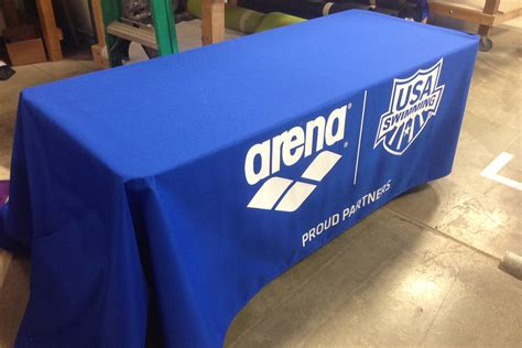 fitted logo tablecloths fitted table covers omni promotional