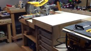 Compact Bench Press Portable Workbench Table Saw And Chop Saw Youtube