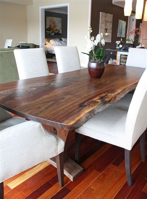 hardwood kitchen tables 1000 ideas about wood slab table on kitchen