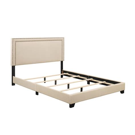 bed frame feet home depot pulaski furniture upholstered queen size headboard and bed