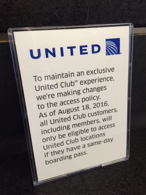 united same day change starting 18 aug 2016 united club access including
