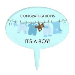 Its A Boy Baby Shower It S A Boy Baby Shower Cake Topper Zazzle