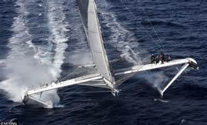 sailing boat average speed hydroptere super yacht can clock 60 miles an hour daily