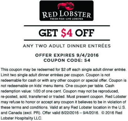 printable restaurant coupons red lobster red lobster coupons printable coupons