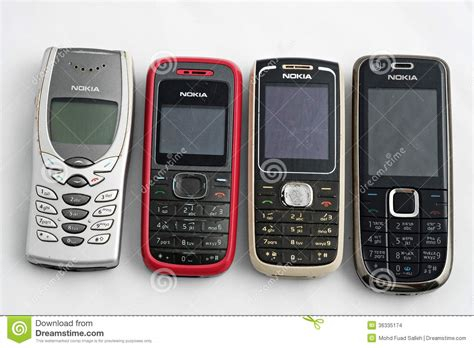 nokia  mobile phones editorial stock image image